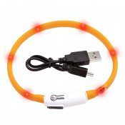 Kattenhalsband LED Visio Light Oranje