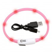 Kattenhalsband LED Visio Light Roze